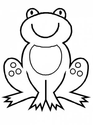 Free Simple Frog Coloring Pages for Children   CM3XV