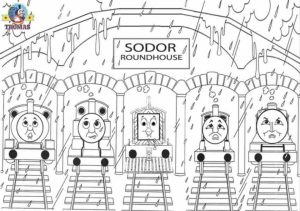 Free Simple Thomas And Friends Coloring Pages for Children   t6gbg