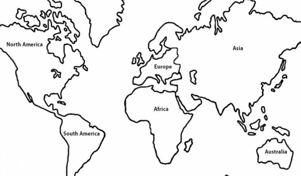 Get this free simple world map coloring pages for children for World map color page