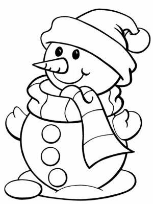 Free Snowman Coloring Pages   75908