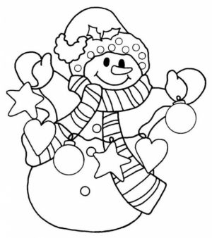 Free Snowman Coloring Pages to Print   16629