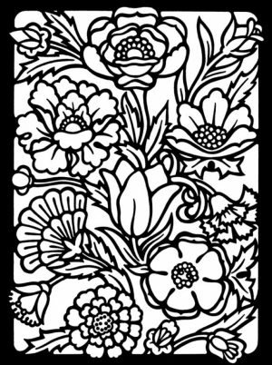 Free Stained Glass Coloring Pages to Print   01276