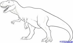 Free T Rex Coloring Pages   4488