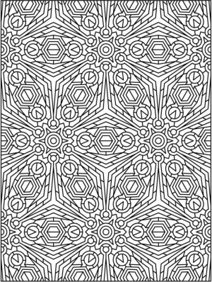 Free Tessellation Coloring Pages for Adults   8CV32
