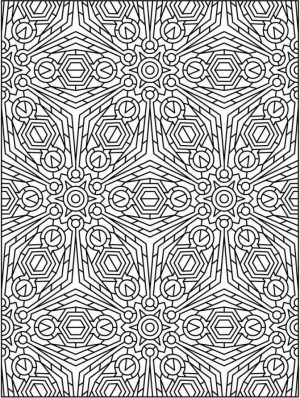 Free Tessellation Coloring Pages for Adults   ED8C2