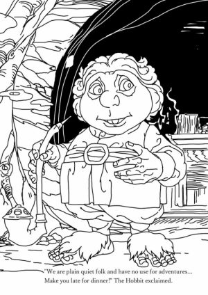 Free The Hobbit Coloring Pages Online   1274