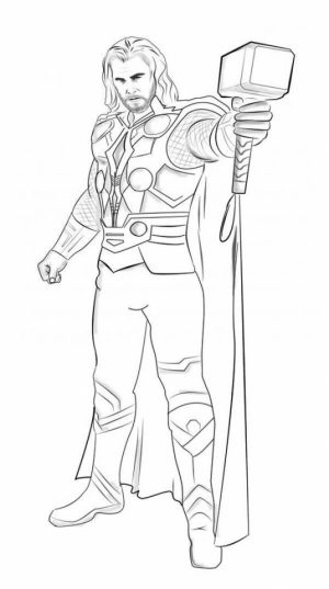 Free Thor Coloring Pages   92377