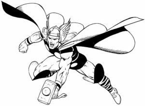 Free Thor Coloring Pages to Print   92377