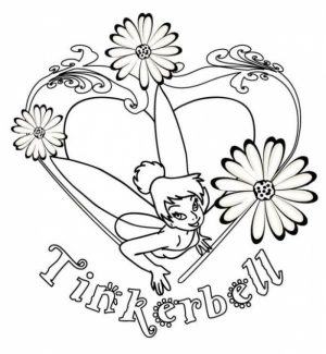 Free Tinkerbell Coloring Pages   66444