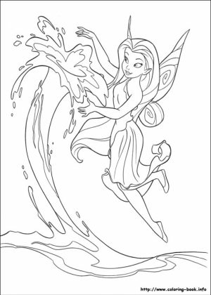 Free Tinkerbell Coloring Pages   72945