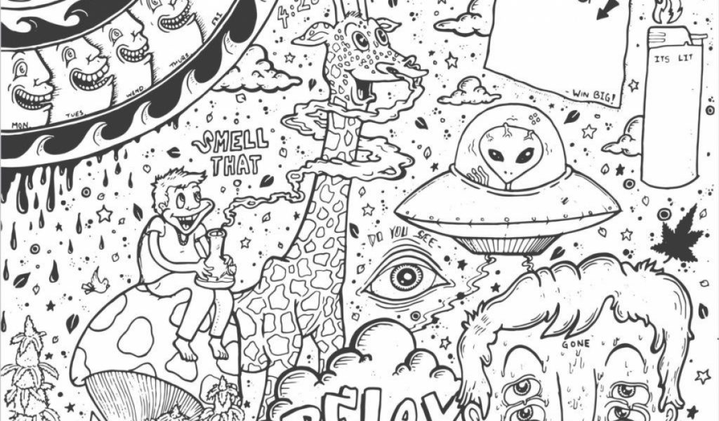 Trippy Coloring Pages Printable Enjoy Coloring Clipart Bw Coloring