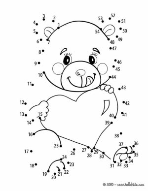 Free Valentine Dot to Dot Coloring Pages to Print   9UWMI