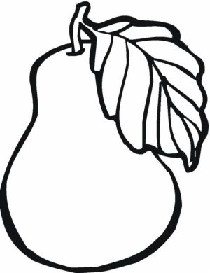 Fruit Coloring Pages Free Printable   57044
