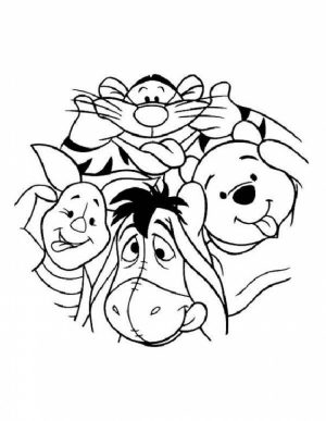 Fun Kids Printable Coloring Pages of Winnie the Pooh   92364