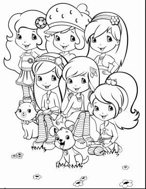 Fun Strawberry Shortcake Coloring Pages for Girls   71296