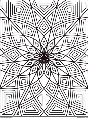 geometric design coloring pages – 64566