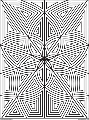 Geometric Design Coloring Pages   l0789