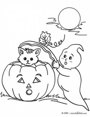 Ghost Coloring Pages