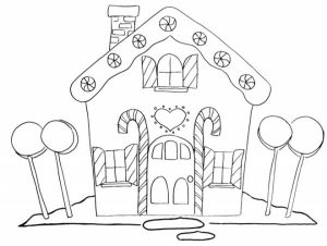 Gingerbread House Coloring Pages Free to Print   JU7zm