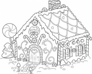 Gingerbread House Coloring Pages Online Printable   bp4m5