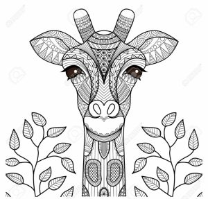 Giraffe Coloring Pages for Adults Zentangle Art   67318