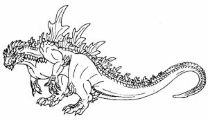 Godzilla Coloring Pages to Print for Kids   KIFps