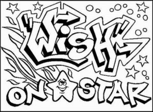 Graffiti Coloring Pages Free Printable   13110
