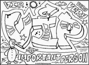 Graffiti Coloring Pages Free Printable   16479