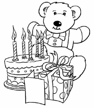 Happy Birthday Coloring Pages Free Printable   31780