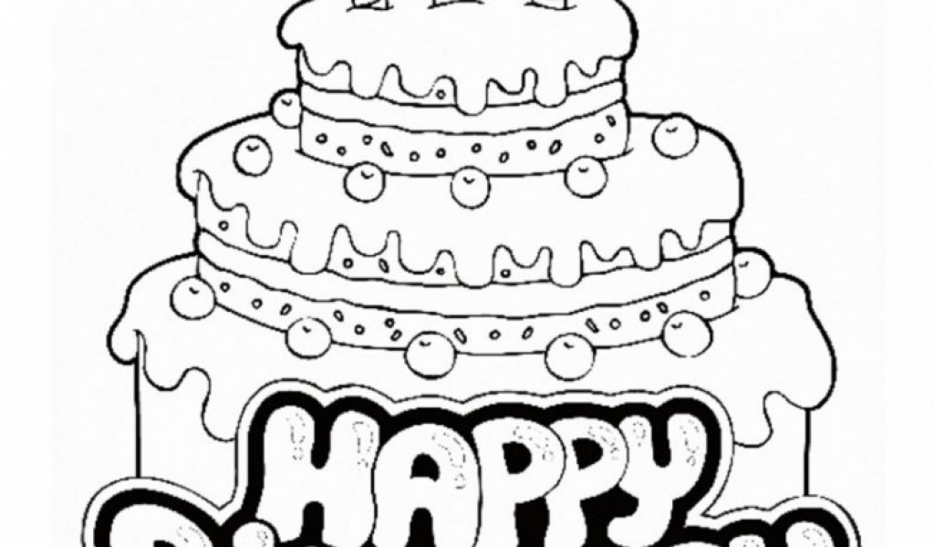 Get This Happy Birthday Coloring Pages Free Printable 90461 !