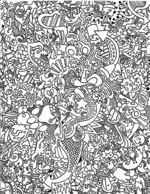 Hard Trippy Coloring Pages Free for Adults   Z7CV7