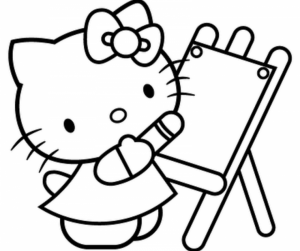 Hello Kitty Coloring Pages Printable   83nc7