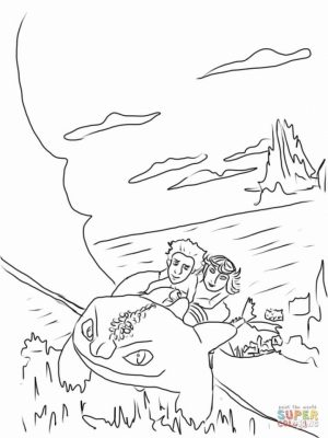 How to Train Your Dragon Coloring Pages   tdfr1