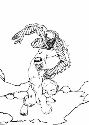 Hulk Coloring Pages Marvel Avengers   78512