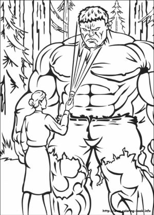Hulk Coloring Pages Marvel Avengers   95728