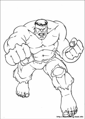 Hulk Coloring Pages Superheroes Printable   67128