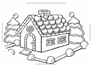 Image of Gingerbread House Coloring Pages to Print for Kids   EhR0n