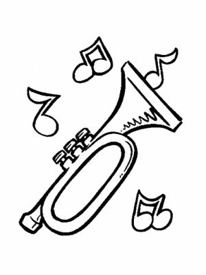 Image of Music Coloring Pages to Print for Kids   05021