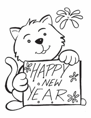 Image of New Years Coloring Pages to Print for Kids   48563