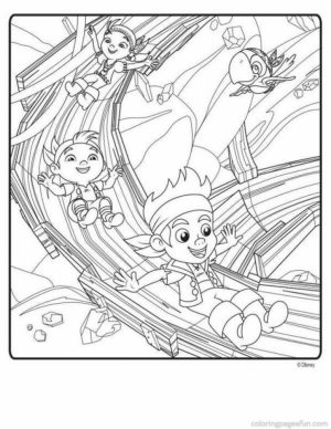 Jake and The Neverland Pirates Coloring Pages Disney Jr   tac3l