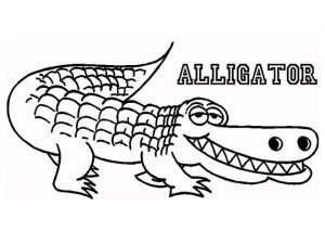 Kids' Printable Alligator Coloring Pages   x4lk2