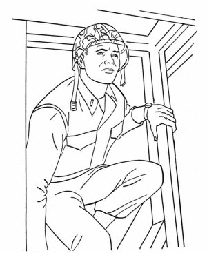 Kids Printable Army Coloring Pages   qe5678