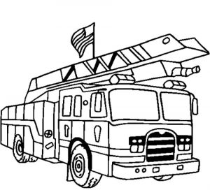 Kids' Printable Fire Truck Coloring Page Free Online   60199