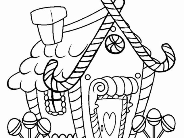 Get This Kids Printable Gingerbread House Coloring Pages Free Online CIxtO