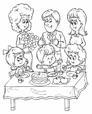 Kids Printable Happy Birthday Coloring Pages Fun   21057