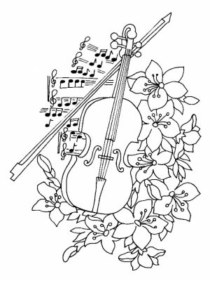 Kids' Printable Music Coloring Pages   13195