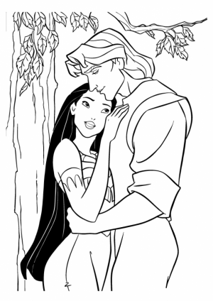 Kids' Printable Pocahontas Coloring Pages   LC75F