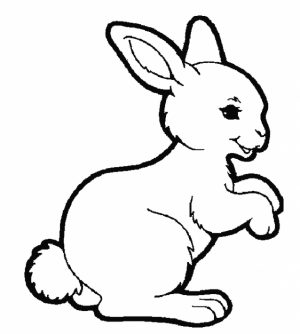 Kids' Printable Rabbit Coloring Pages   LC75F