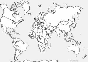 Kids' Printable World Map Coloring Pages   x4lk2