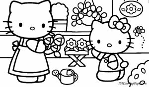 Kitty Coloring Pages Free to Print   09671